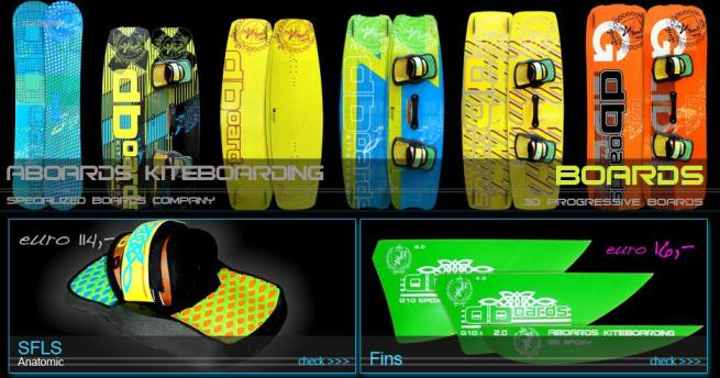 Aboards Kiteboards and snowboards collection 2013