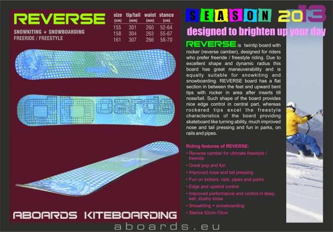 snowkiteboard REVERSE with rocker