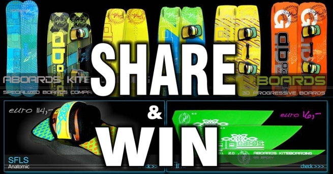 Share and Win kiteboard or snowboard